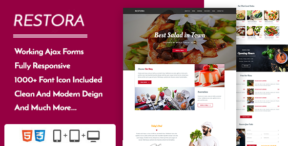 Restora - Restaurant Cafe & Bistro Template - Restaurants & Cafes Entertainment
