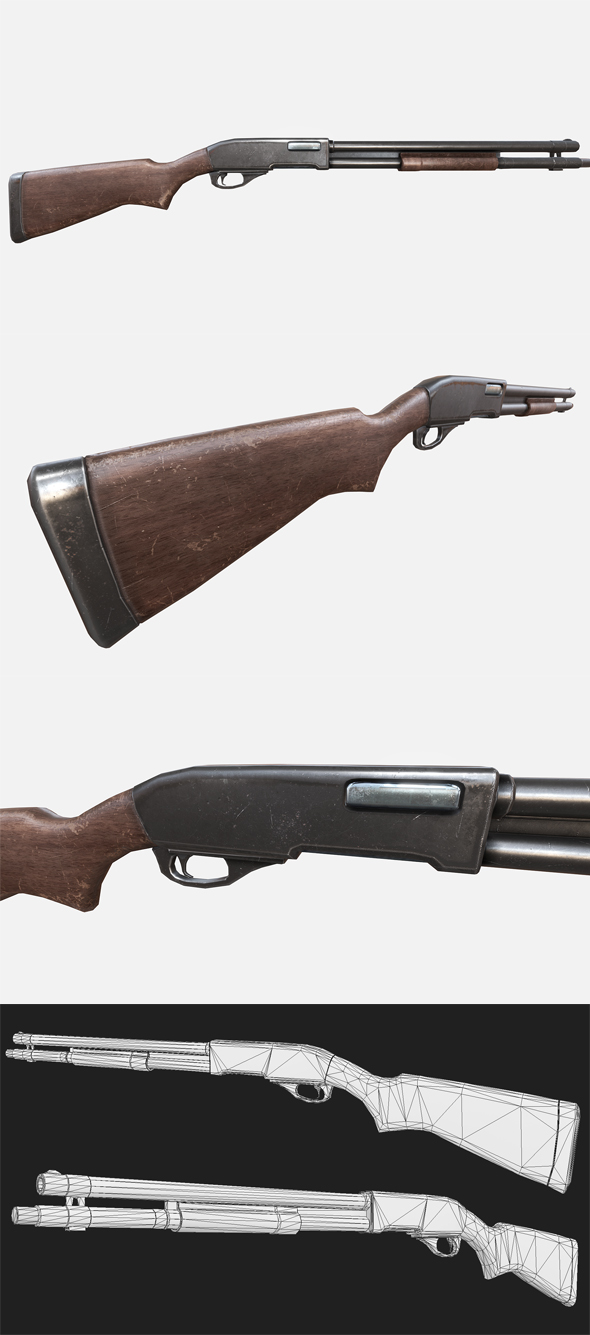 Remington Shotgun - 3DOcean Item for Sale