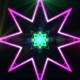 Abstract Psychedelic Laser Lights Rotating in Concentric Circles