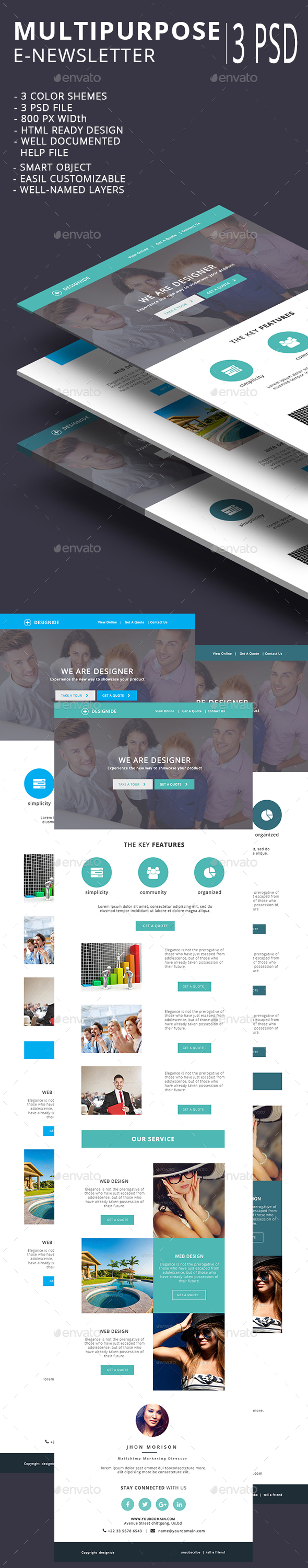 Multipurpose Email Template V16 - E-newsletters Web Elements