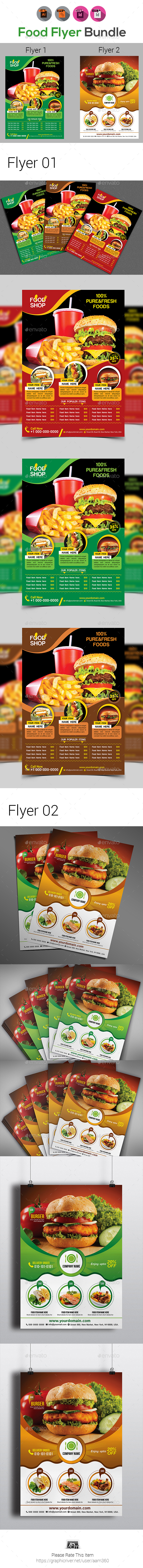 Food Flyer Bundle - Restaurant Flyers