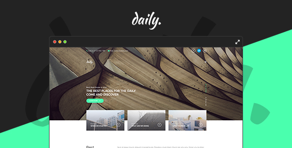 Daily - PSD Template - PSD Templates