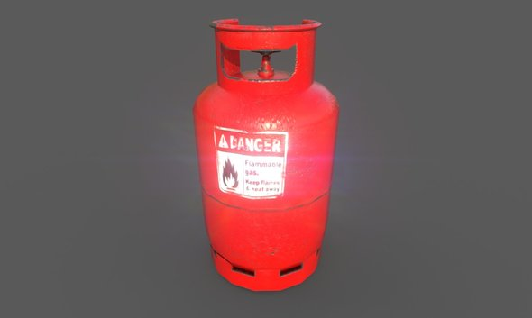Gas Bottle - 3DOcean Item for Sale