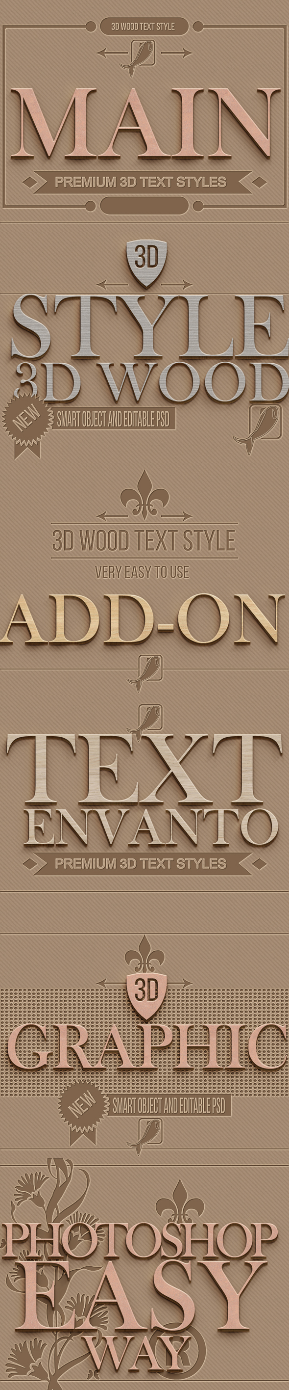 10 3D Text Styles D_11 - Styles Photoshop