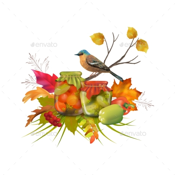 Vector Autumn Composition - Seasons Nature