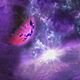 Space Nebula and Planet with the Shine Star on Background