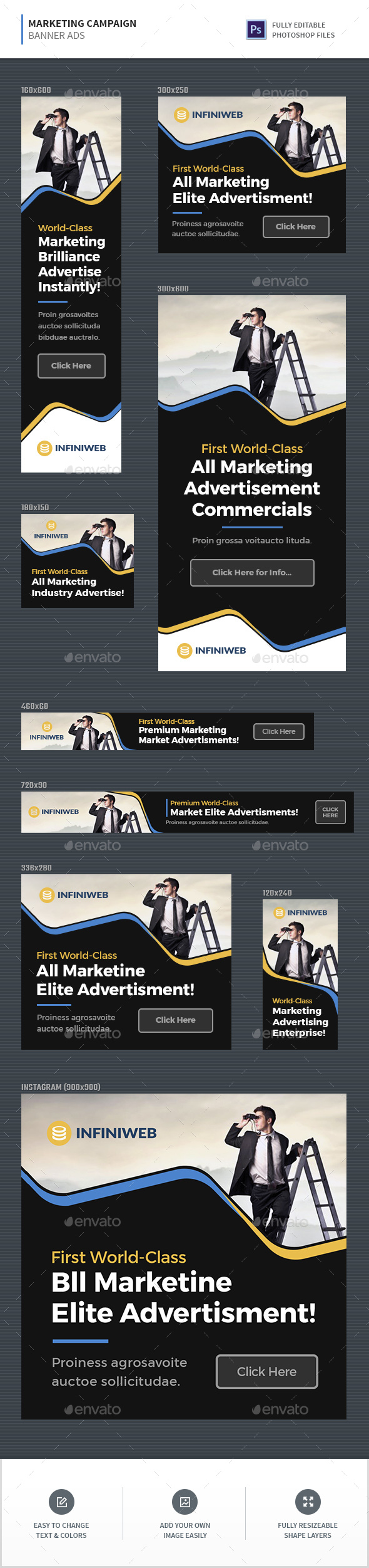 Marketing Campaign Banners - Banners & Ads Web Elements