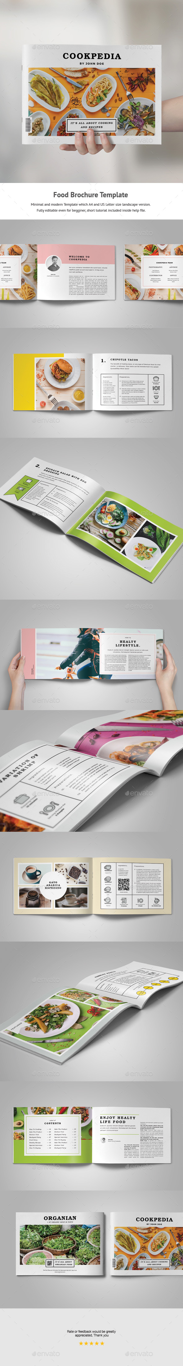 Food Brochure Template - Portfolio Brochures