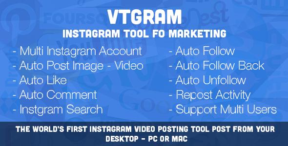 VTGram - Instagram Tool For Marketing - CodeCanyon Item for Sale
