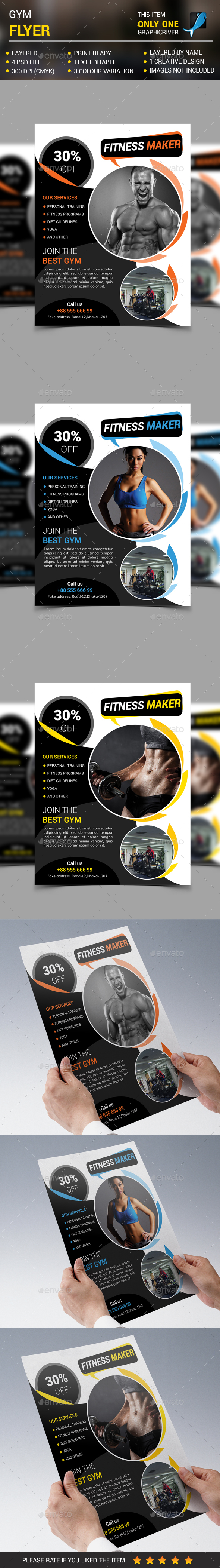 Fitness & Gym Flyer vol 4 - Commerce Flyers