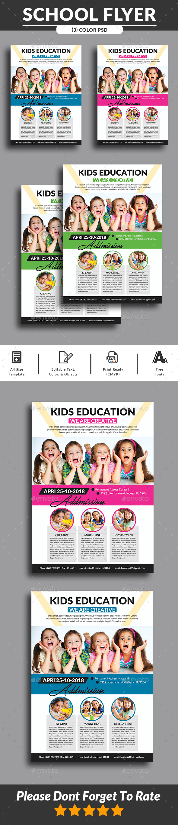 School Flyer Print Templates - Corporate Flyers