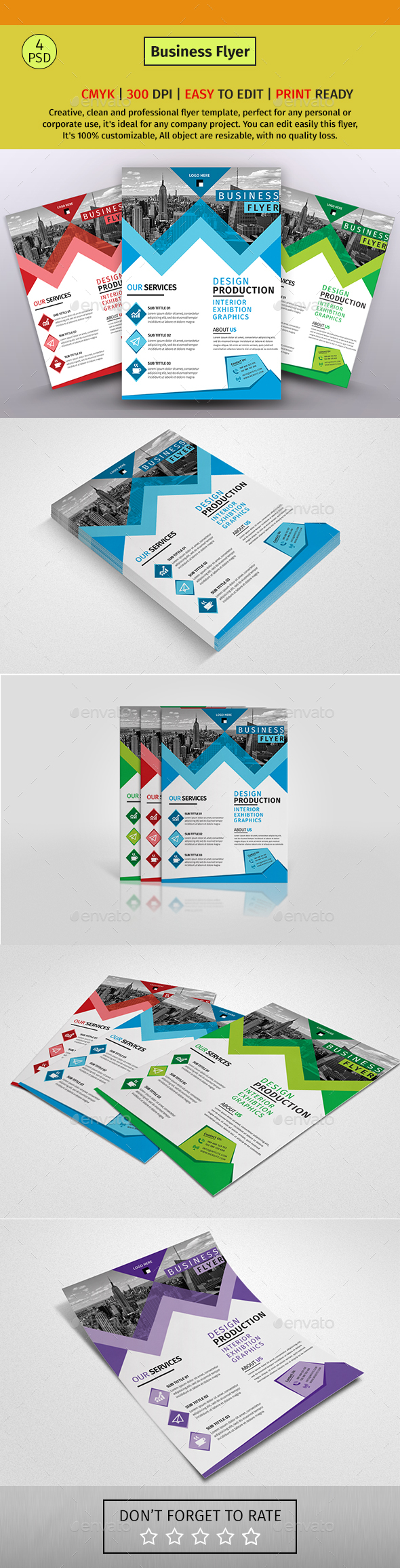 A4 Corporate Business Flyer #140 - Corporate Flyers