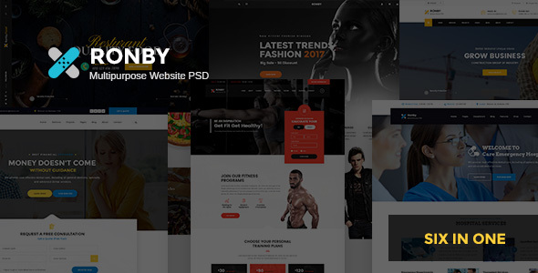 Ronby - Multi-Purpose PSD Template - Corporate PSD Templates
