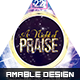 A Night of Praise Church Flyer