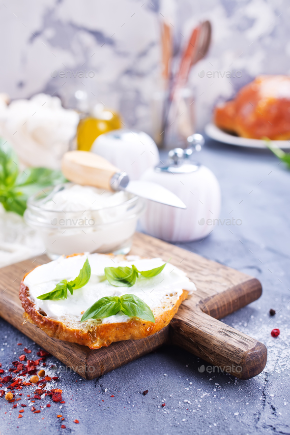 bread with cheese - Stock Photo - Images