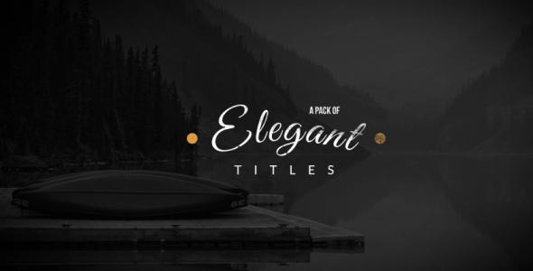 Elegant Titles Collection
