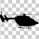 Flying Helicopter Silhouette - VideoHive Item for Sale