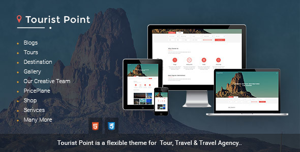 TouristPoint travel & tourism Travel Advisor html template - Travel Retail