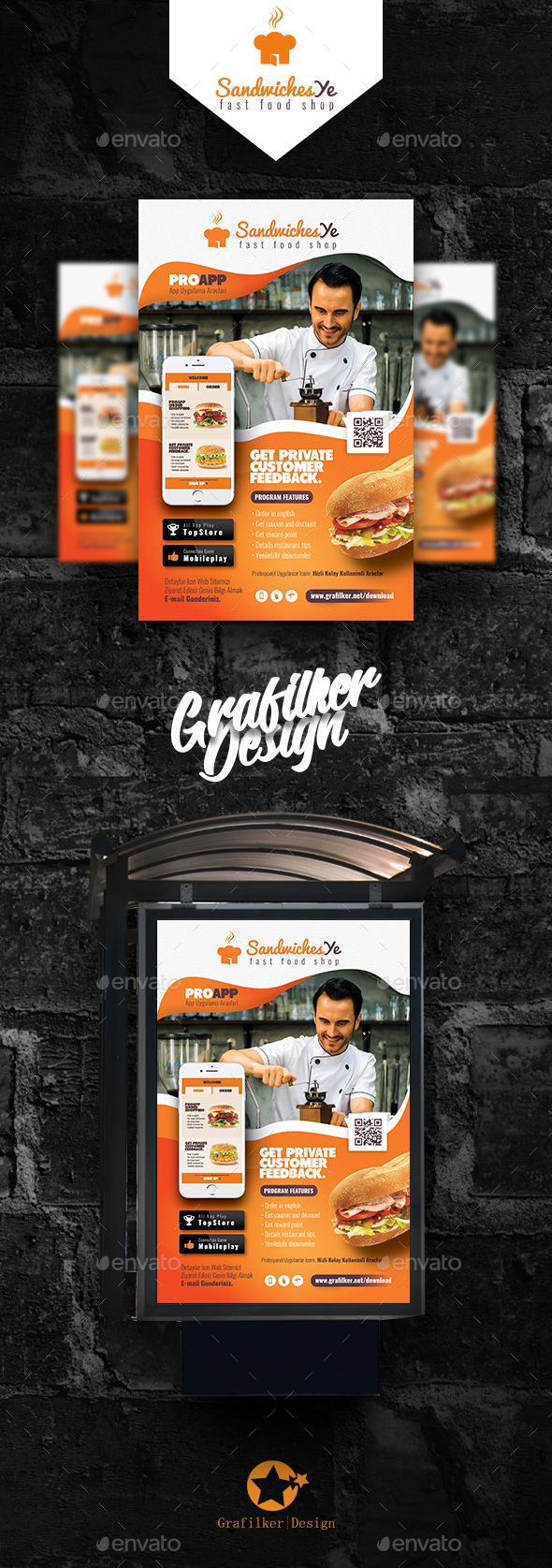 Mobile App Poster Templates - Signage Print Templates