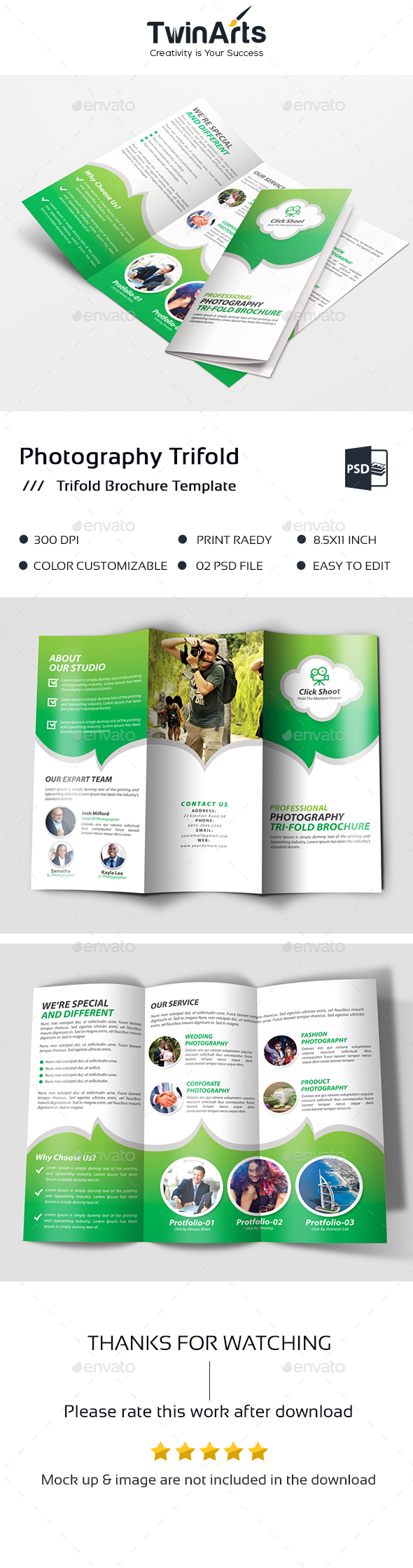 GraphicRiver Photography Trifold Brochure 20474112