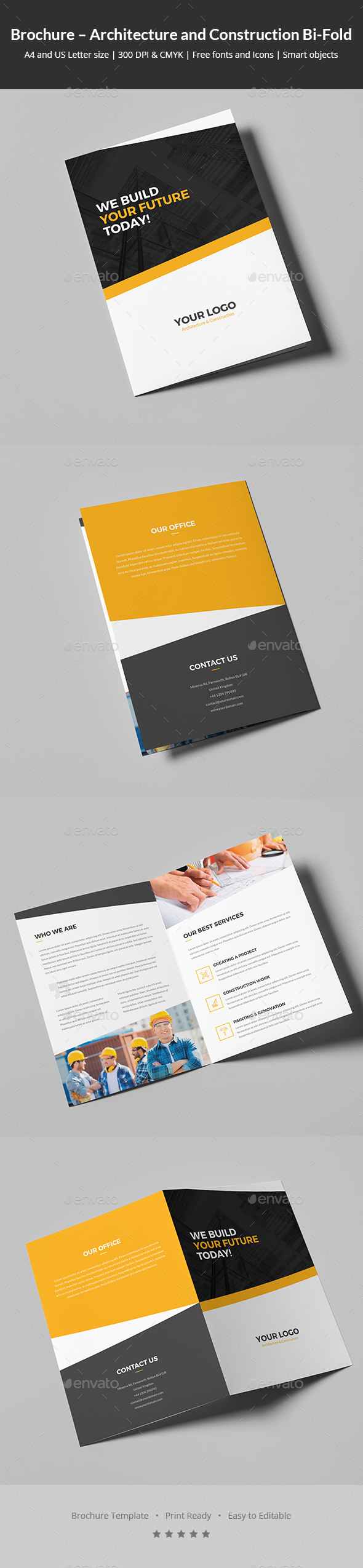Brochure – Architecture and Construction Bi-Fold - Corporate Brochures