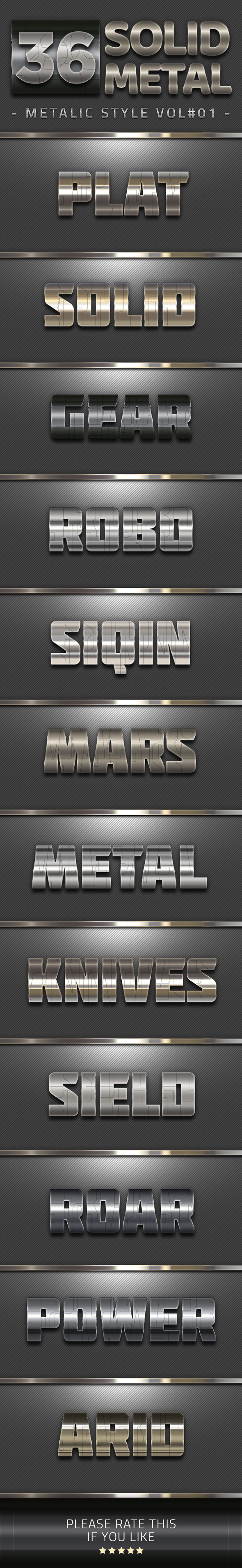 36 Solid Metal Text Effect V01