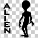 Alien Silhouette - VideoHive Item for Sale