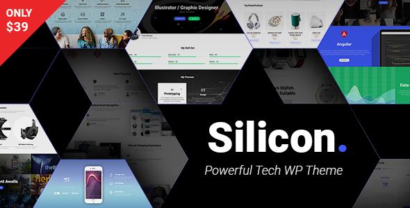 Silicon - Startup and Technology WordPress Theme - Technology WordPress