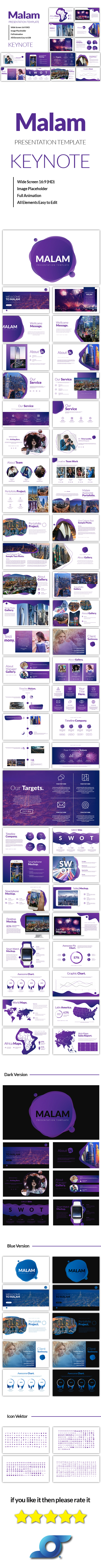 Malam Modren Keynote Template - Abstract Keynote Templates