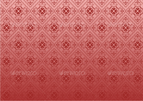 Red seamless background - Patterns Decorative