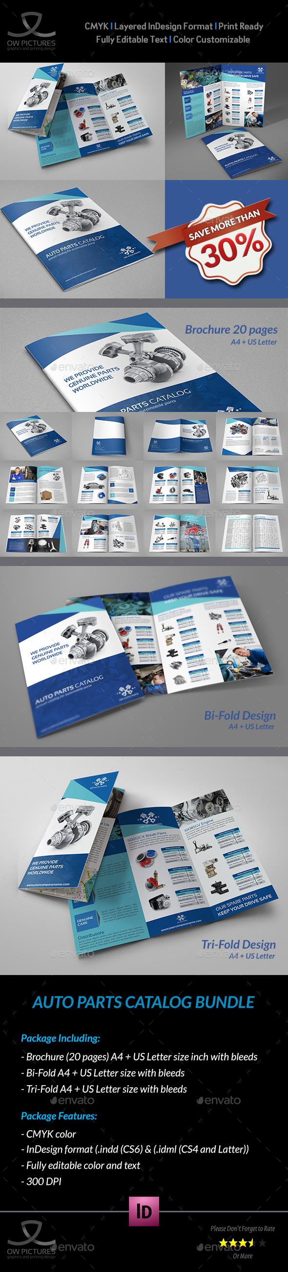 Auto Parts Catalog Brochure Bundle Template - Catalogs Brochures