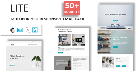 Lite – E mail Template Multipurpose Responsive with Stampready Builder Access (E mail Templates)