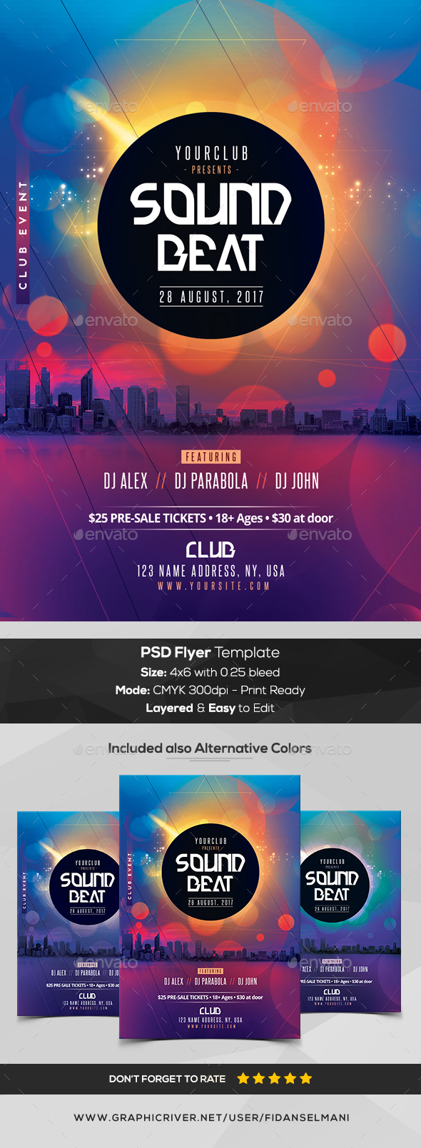 Sound Beat - PSD Flyer Template - Flyers Print Templates