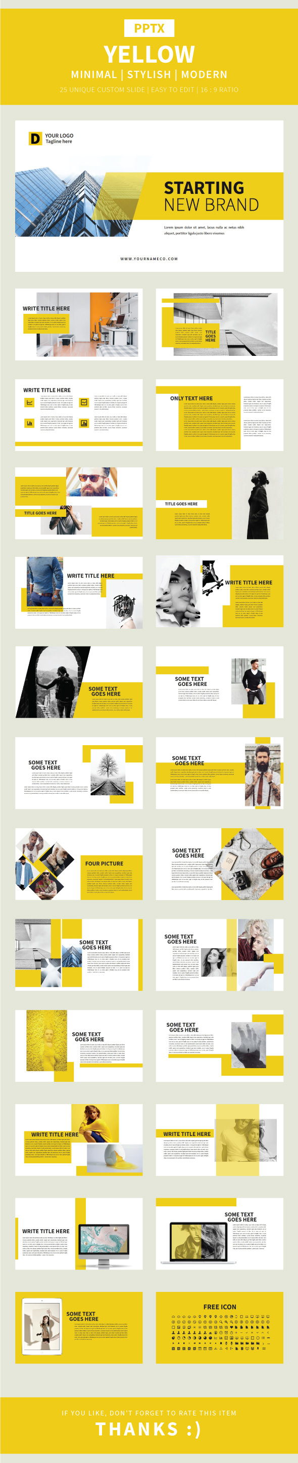 Yellow Pptx Template - Finance PowerPoint Templates