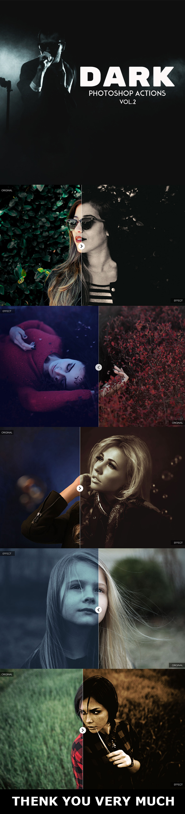 Dark Photoshop Actions Vol.2 - Photo Effects Actions