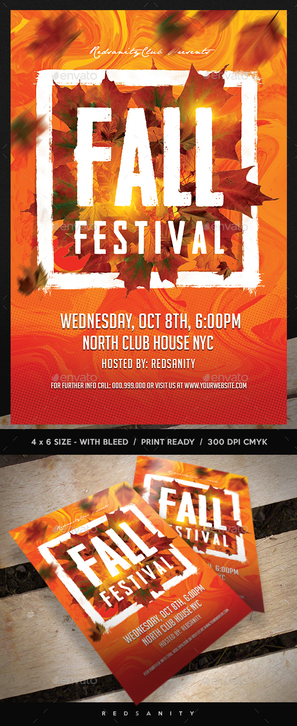 Fall Festival Flyer - Clubs & Parties Events