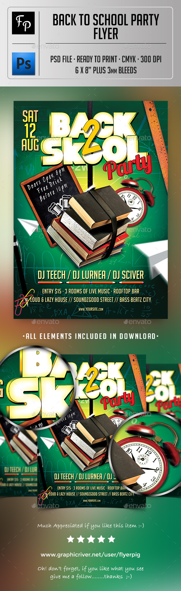 Back To School Party Flyer - Clubs & Parties Events