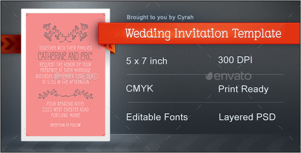 Wedding Invitation Template - Weddings Cards & Invites