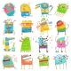 Cartoon Colorful Monsters for Kids Big Collection - GraphicRiver Item for Sale