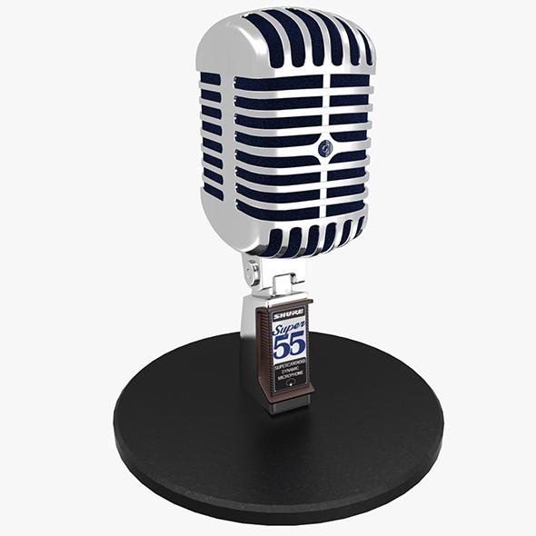 3DOcean Vintage Microphone 20475056