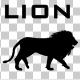 Lion Fast Walk Silhouette Animation