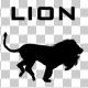 Lion Run Silhouette Animation