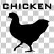 Chicken Walk Silhouette Animation