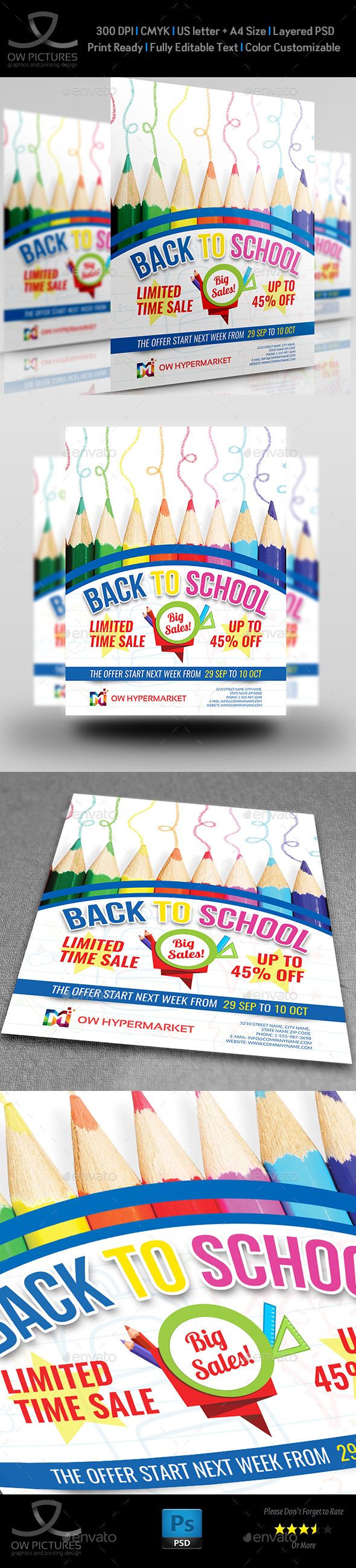 GraphicRiver Back To School Flyer Template 20475154