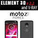 Moto Z2 Force BLACK model