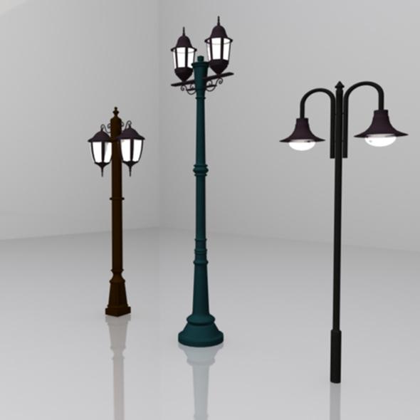 Street Light 3 model - 3DOcean Item for Sale