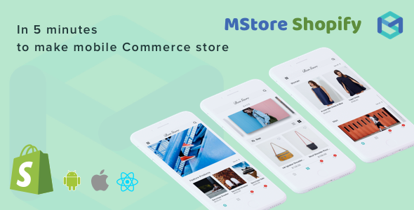 Mstore Shopify - Complete React Native template for e-commerce - CodeCanyon Item for Sale
