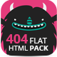 Pack 404 Flat Error Templates - ThemeForest Item for Sale