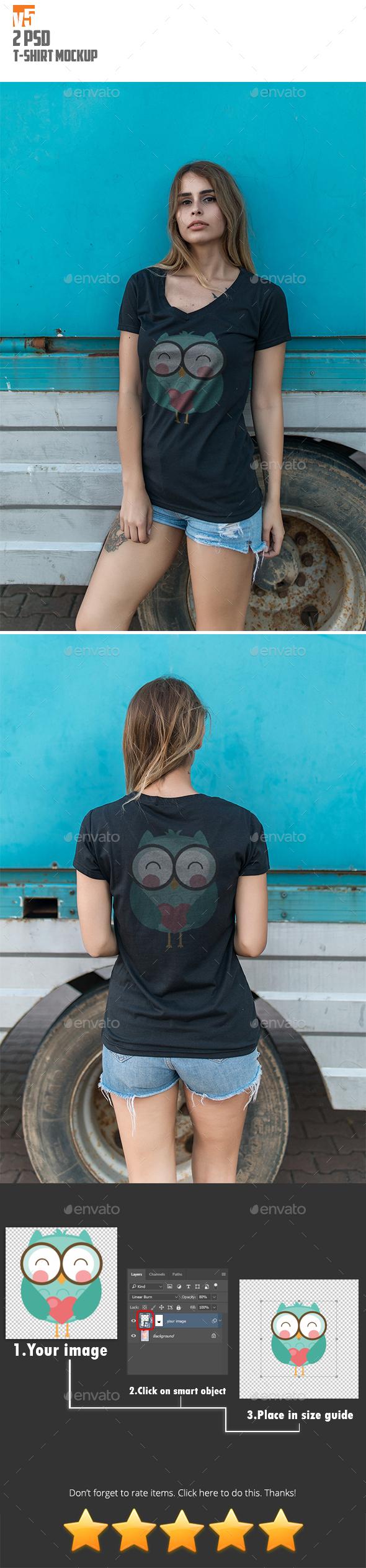 T-Shirt Mockup v5 - T-shirts Apparel