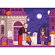 Trick or Treat Children Halloween Scene - GraphicRiver Item for Sale
